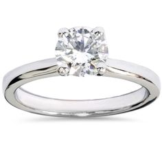 Bliss 14k Gold 1ct TDW Lab Grown Diamond Solitaire Engagement Ring