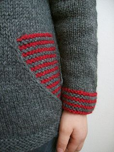colour block jumper for 2, 4, 6, 8, 10 and 12 yr olds. Done with Cascade yarn or Sidar Bonus Aran apparently.