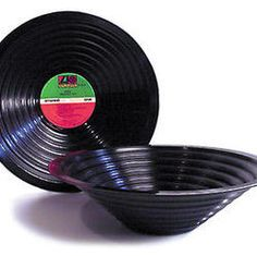 Stepped Vinyl Record Bowl