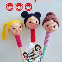 ・ ・ ・ Here is our recipe . ormek isteyenlere kolay gels… ・ ・ ・ Here is our recipe . easy gelsiiinn for those who want to. Crochet Dolls, Crochet Baby, Pen Toppers, Amigurumi For Beginners, Doll Tutorial, Amigurumi Doll, Crochet Flowers, Crochet Projects, Free Pattern