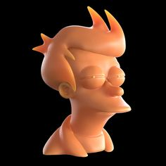 """3D model for printing of """"Futurama's"""" Fry squinting (popularized by """"Not sure if..."""" internet meme). Feel free to ask me for a model under condition that you will print it and send me a picture of it."""
