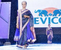 Waheeda Rehman in the 8th Annual 'Caring With Style' Fashion show which is in association with the Cancer Patients Aid Association.