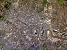 London from the International Space Station, April 5, 2005