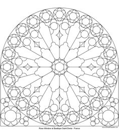 Rose Mandala Picture to Color, Stained Glass Window Mandala coloring Pages, Pattern Mandala, Free Printable Mandala Coloring Pages, Flower Mandala Black and White Template, lineart, mandala, printables, cool teen craft
