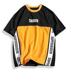 Aelfric Eden Hip Hop Skateboard Baseball Shirt Men Letter Print Patchwork Color Purple Casual T Shirt Cotton Tees T-shirts Hip Hop Outfits, Hipster Outfits, Dance Outfits, Casual Outfits, Baseball Shirts, Boys T Shirts, Sports Baseball, Skateboard, Sport T-shirts
