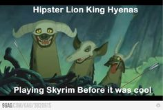 Hipster Lion King Hyenas!