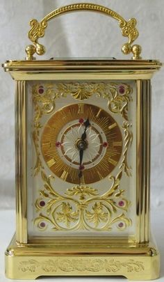 Franklin Mint House of Faberge Imperial Carriage Clock Sterling Rubies 24KT Gold | eBay
