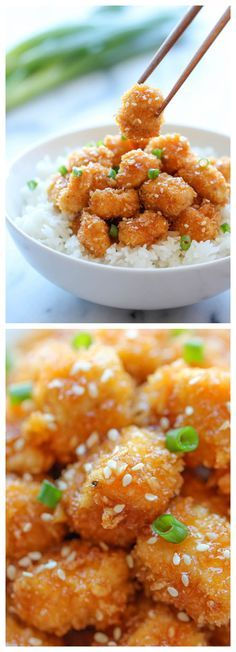 Baked Honey Garlic Chicken - A take-out favorite that you can make right at home. It's healthier, cheaper and so much tastier!