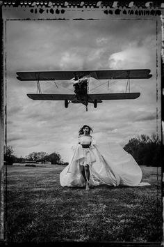 North by Northwest by tammyswarek #viewbug #fashion #photography #B&W #parachute #dress #airplane #vintage