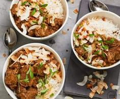 Recipe Coconut lamb curry by alycealexandra, learn to make this recipe easily in your kitchen machine and discover other Thermomix recipes in Main dishes - meat. Lamb Recipes, Curry Recipes, Meat Recipes, Indian Food Recipes, Dinner Recipes, Cooking Recipes, Slow Cooking, African Recipes, Paleo Recipes
