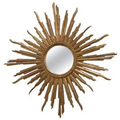 French Sunburst Mirror | From a unique collection of antique and modern sunburst mirrors at http://www.1stdibs.com/furniture/mirrors/sunburst-mirrors/