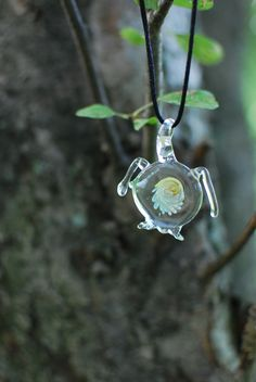 twisted implosion turtle pendant  Buy or custom order my work at www.etsy.com/shop/wildhareflamework