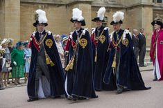 Prince Andrew, Duke of York, Prince Edward, Earl of Wessex, Prince William, Duke of Cambridge and Prince Charles, Prince of Wales arrive to attend the Most Noble Order of the Garter Ceremony on June 16, 2014 in Windsor, England. The Order of the Garter is the senior and oldest British Order of Chivalry, founded by Edward III in 1348. Membership in the order is limited to the sovereign, the Prince of Wales, and no more than twenty-four members.