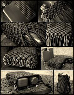 Stormdrane's Blog: Paracord Canteen Cover...