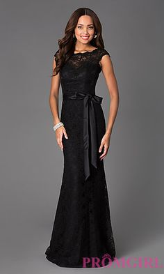 Black Lace Evening Gown by Mori Lee 696 at PromGirl.com 52a8d87f0