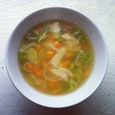 Quick and easy homemade chicken noodle soup!
