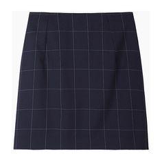 Jacquemus La Mini Jupe Taille Haute ($330) ❤ liked on Polyvore featuring skirts, mini skirts, bottoms, checkered skirt, high rise skirts, wool skirt, high waisted short skirts e navy blue mini skirt