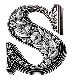 Intricately HandDrawn Alphabet With Individually Designed Letters