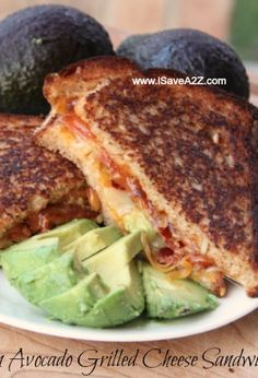 "Another pinner said, ""Oh. My. Word. THIS IS THE BEST Tasting sandwich EVER!!!  Bacon Avocado Grilled Cheese Sandwich!"""