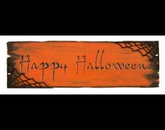 "Happy Halloween Word Stencil - STCL321 - 11"" X 4"" -by StudioR12"