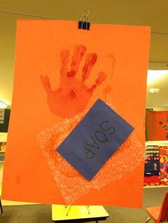 We are learning about hygiene and staying healthy!! Hand washing pictures!!