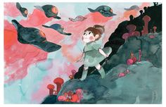 """A year ago Jonathan Garnier (co-scriptwriter) and I started to develop a comic book project entitled """"Lilou"""".It was the story of a young girl and her brother who lived an adventure into a wild forest invided by strange creature… yep, not really..."""