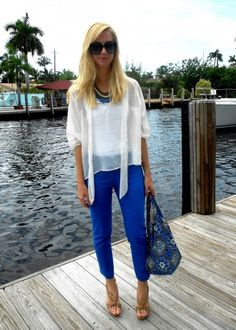 544ca89a8692 I love the ky blue pants! Weekend Getaway OutfitsSummer ...