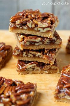 Pecan Pie Bars. Ryan would love these. On the Christmas bake list!.