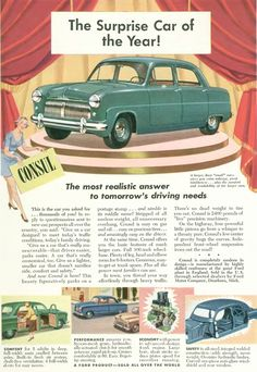 Image result for ford consul advertising images