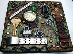 Mosaic Art, Mosaic Tiles, Metal Watch Bands, Cardboard Paper, Clay Tiles, Handmade Tiles, Handmade Journals, Mosaic Designs, Diy Projects To Try