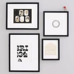 Black frames $25-$45 each/pck 4 http://www.westelm.com/products/gallery-frames-black-d477/?pkey=cpicture-frames%7C%7C