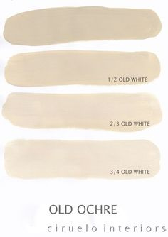Varying tints possible with Chalk Paint® decorative paint by Annie Sloan. A combination of Old Ochre & Old White by Ciruelo Interiors.