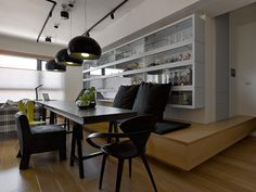 I would like storage and seating like this  - interior modern project1 Café like Atmosphere Exuded by Original Apartment in Taiwan