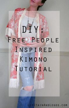 Make this simple floral kimono at home with this full tutorial, lots of pictures, and free DIY Pattern. Customize and embellish it however you like....