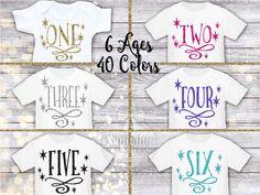 Custom Birthday Shirt 1st-6th Birthdays by BabySquishyCheeks