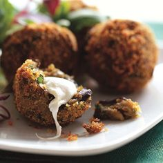 Crispy Eggplant Fritters with Smoked Mozzarella