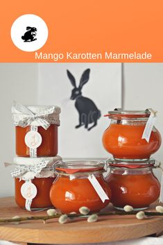 For the Easter breakfast - Homemade Easter jam made from delicious carrots and fruity mango. Chutneys, Birthday Rewards, Mango Jam, How To Make Jam, Presents For Her, Vegetable Drinks, Healthy Eating Tips, Marmalade, Xmas Gifts