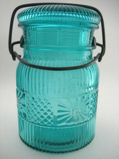 Vintage #Avon Blue Glass Canning Jar