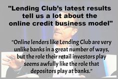 "http://p2plend.it/2bc5l5e ""They both are the last line of defence and risk losing their money when it all goes wrong. In the case of a bank depositor government insurance protects them up to a point. But if youre a retail investor on Lending Club you own promissory notes issued by the company rather than loans themselves so all that protects you at present is the fact that Lending Club has no debt."" #p2plending #crowdfunding #smallbusiness #marketplacelendingrevolution #company #business…"