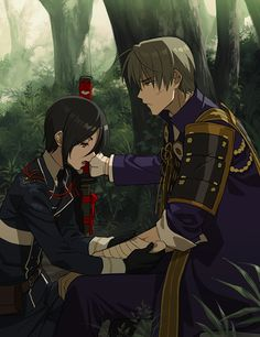 Yagen and Hasebe Me Me Me Anime, Anime Guys, Black Butler Quotes, Manga Art, Anime Art, Touken Ranbu Characters, Anime Life, Anime Couples, Character Art