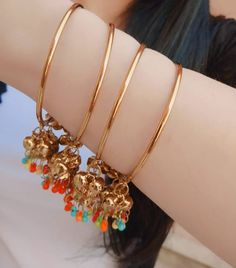 Ankle Jewelry, Hand Jewelry, Trendy Jewelry, Cute Jewelry, Fashion Jewelry, Jewelry Ideas, Bridal Bangles, Silver Bangles, Bridal Jewelry
