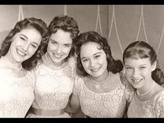 The Lennon Sisters -When I was a boy I had a crush on Janet. Best Memories, Childhood Memories, The Lawrence Welk Show, The Lennon Sisters, Sister Songs, Cry Youtube, 50s Music, Family Tv, Tv Couples