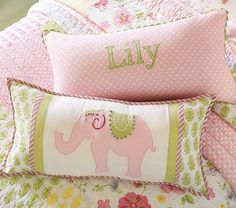 I love the Lily Elephant Decorative Pillow on potterybarnkids.com