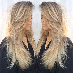 Stylish layered hair cut for trendy girls - Neue Frisuren 2018 - Hair Length Pretty Hairstyles, Straight Hairstyles, Fast Hairstyles, Layered Hairstyles, Medium Hairstyles, Hairstyles 2018, Beautiful Haircuts, Hairstyle Ideas, Hair Ideas