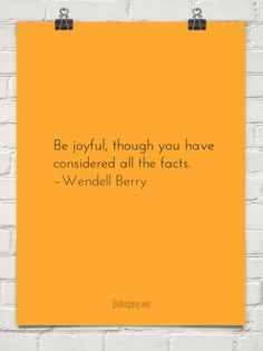 be joyful though you