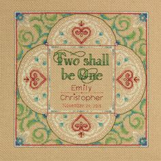 $13.16 12x12 Love this design! I'd customize it to my decor by changing red border/ hearts/ lettering to another color. DIMENSIONS-Counted Cross Stitch Kit. Stitched wedding records are a timeless treasure and with this kit you can create a beautiful wall hanging that celebrates your union. This kit contains 14-count beige Aida; presorted thread; needle; and instructions.