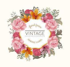 Vintage floral frame. #klepsoo #think #pink