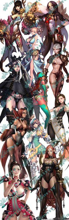 ✧ #characterconcepts ✧ 396 游戏美术素材 原画资料 日韩写实人物 性感美女 角色 CG设定-淘宝网