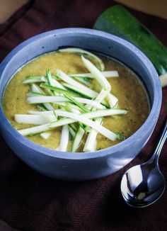 Curried leek and zucchini soup