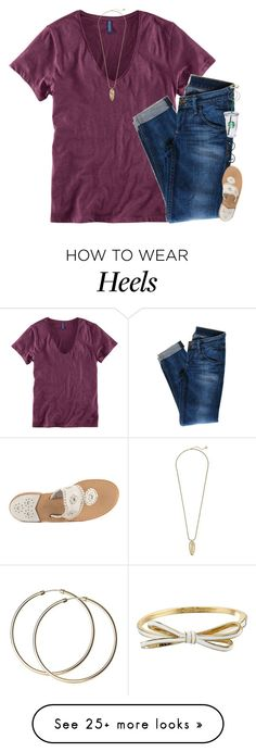 """""""judge me when you are perfect."""" by gourney on Polyvore featuring Hudson Jeans, Jack Rogers, Muse, Starbucks, Kate Spade and Kendra Scott"""
